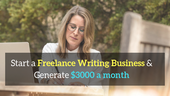 start a freelance writing business